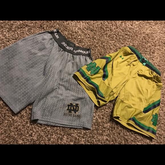 new style c4987 dbd17 UA Boys Notre Dame Basketball Shorts. M 5b58b51b8158b597dd5eecfb